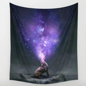 Society6 Coyote Galaxy Wall Tapestry